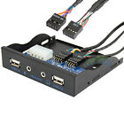 """3.5"""" Internal Front Panel 2 Port USB 2.0 and HD Audio Hub to 2 Motherboard 9 pin"""