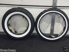 YAMAHA V-STAR CUSTOM 650 FULL BORE USA WHITEWALL MOTORCYCLE 2 TIRE SET