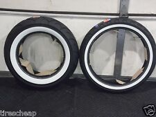 HONDA SHADOW VLX 600   FULL BORE USA WHITEWALL MOTORCYCLE 2 TIRE SET