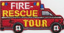 Boy Girl Cub FIRE RESCUE TOUR EMS Ambulance Fun Patches Crests Badge GUIDE SCOUT