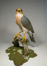 "15"" Cooper's Hawk Original Bird Carving/Birdhug"
