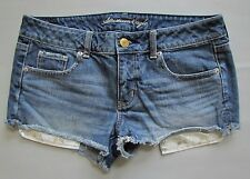 "American Eagle Denim Shorts 10 Shortie Jean Distressed 2"" Cutoffs Star long pckt"