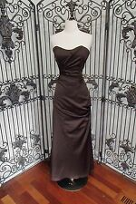 S185 IMPRESSION 1733 SZ 12 CHOCOLATE $170 BRIDESMAID PARTY  FORMAL GOWN DRESS