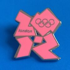 LONDON 2012 OLYMPIC GAMES PINK LOGO PIN BADGE