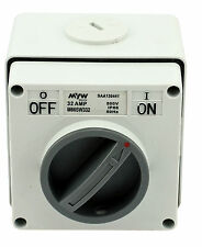 32A Isolating Switch 3 Pole 500V IP66 Weatherproof Industrial Isolator
