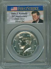 2014-D PCGS MS70 FIRST STRIKE SILVER JFK HALF KENNEDY 50TH ANNIVERSARY LABEL