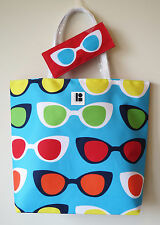 New! Estee Lauder Lisa Perry Design Tote Beach Bag With A Sunglasses Pouch