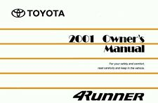 2001 Toyota 4Runner Owners Manual User Guide