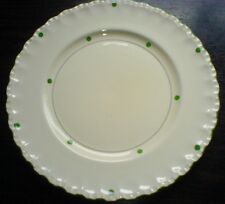 Grindley 10 inch Cream/White Plate with Green Spots