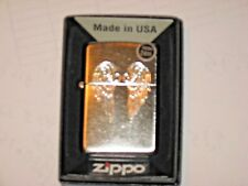 New ZIPPO USA LIGHTER Angle Wings Chrome Arch Case CHRISTIAN JESUS Christ BIBLE