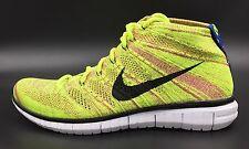 New Nike Flyknit Free Chukka Running Shoes Volt Fuchsia 639700 700 Mens 9.5