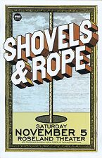 SHOVELS AND ROPE 2016 Gig POSTER Portland Oregon Concert