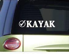 """Kayak check *H986* 8"""" Sticker decal bucket list white water"""