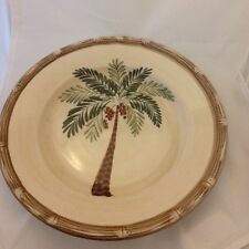 Home Trends West Palm Plate Tree Bamboo Salad Plate