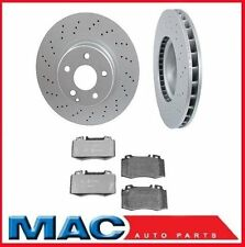 00-02 Mercedes S430 S500 00-03 CL500 (2) Cross Drilled Front Rotors & Brake Pads
