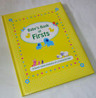 NEW BABY'S BOOK OF FIRSTS RECORD MEMORY BOOK YELLOW GINGHAM ELEPHANTS AL