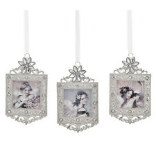 ANGELS HEARD ON HIGH Beautiful Ornaments Jeweled Christmas Set of 3