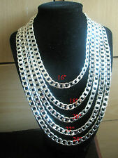 SALE Men's Silver Plate Curb Chain Necklace & Gift Box Xmas Birthday Present Dad