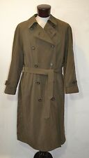 Chaps Ralph Lauren Trench Coat Men 42R full length double breasted Green