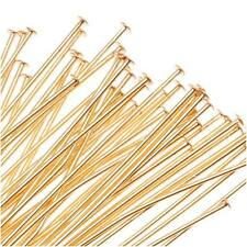 22K Gold Plated Head Pins - 21 Gauge 3 Inches  (25)