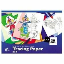 BUY 3 GET 1 FREE A3 TRACING PAPER PAD 30 SHEET FUN PROJECT KIDS ACTIVITIES CRAFT