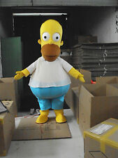 New New Homer J. Simpson  Mascot Costume Fancy Dress Adult Suit Size R105