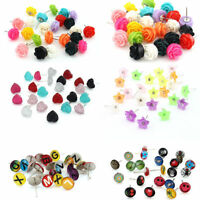 60 Pairs Enamel Resin Letter Heart Flower Rose Statement Knot Stud Earrings