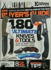 Knives Illustrated 2016 Buyer's Guide Jan Feb 2016 Tools Gadget FREE SHIPPING sb
