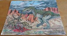 Vintage 1993 Jurassic Park Lost Word Pastel Painting Picture Signed John Legrand