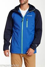 Columbia Sector Reflector Men's Small Omni Tech Waterproof Jacket Hooded Blue