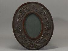 CINCINNATI ART CARVED OVAL FRAME AESTHETIC OAK LEAVES ACORNS AMERICAN