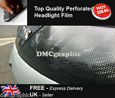 6xA4 Sheet Perforated Car Window Fly Eye Headlight Film Mesh One Way Vision Wrap