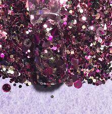 glitter mix acrylic gel nail art  CARMEL RASPBERRY WINE  ��  Limited Edition