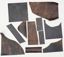 LEATHER PIECES OF PULL-UP COWHIDE CRAZY HORSE OFF-CUTS, 500 GM, 2 mm