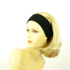 headband wig mid long blond golden wick very light blond ref: MADY 24bt613