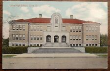 1915 Postcard of Lima High School in Lima, Ohio