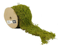 2mtrs WIRED MOSS ROLL/RIBBON - ARTIFICIAL/FAKE GREENERY - TERRARIUM/CRAFT/GARDEN