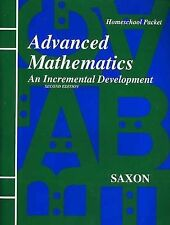 Saxon Advanced Math Homeschool Packet Book - GOOD
