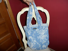 Blue and white Blue Lauren floral cloth tote by Isabella's journey