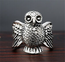 NEW sale 316L Stainless Steel Vogue Design MiniBirds Retro Ring Size 8