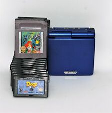 Nintendo Game Boy Advance SP Blue AGS-001 + 15 Games