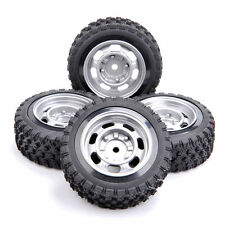 4PCS Rubber Tire & Wheel For 1/10 RC Rally Racing Off Road Car 11083-21104