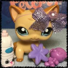 Littlest Pet Shop RARE CARAMEL SWIRL CURL SHORT HAIR CAT 1024 BLEMISHED FLAWED