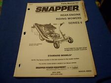 (DRAWER 22) Snapper Rear Engine Riding Mowers Series 6 Parts Manual 06082
