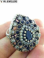 Anillo Turco 925 Sterling Silver Jewelry Onyx Antique Adjustable Ring R2692