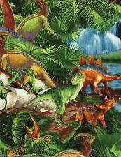 Baby Dinos Dinosaurier Tiere Patchworkstoff Stoff Patchwork Baumwolle Tiermotive