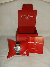 Swiss Legend Wmns 20032D-01 South Beach Collection Diamond Accented Black Watch