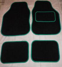 Car Mats Black and Green trim car mats for PEUGEOT 106 107 206 207 307 308 407