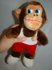 Vintage 1986 Etone Basketball Monkey Stuffed Animal Plushed Doll Toy 12""