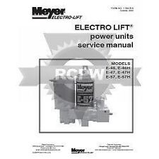 Genuine OEM Meyer E-46 E-47 & E-57 Service Manual 03002